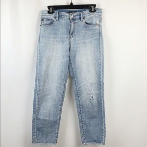 {UNIQULO} Crop Distressed Boyfriend Jeans